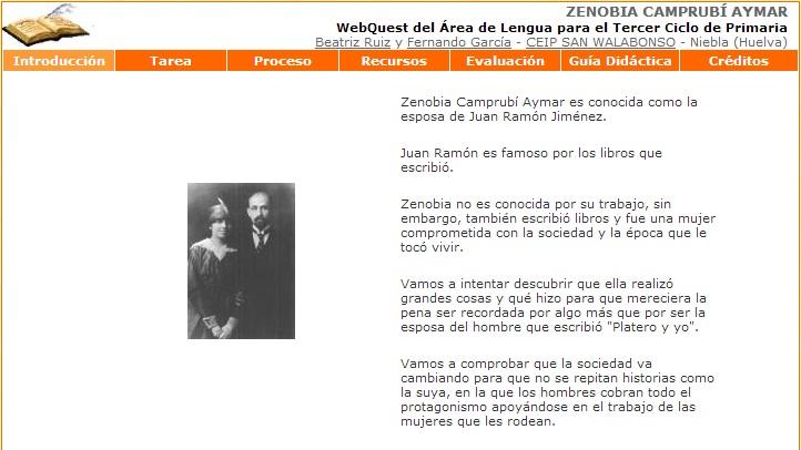 Zenobia Camprubí - WebQuest 2