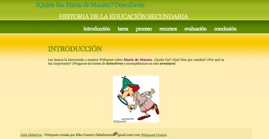 WebQuest María de Maeztu